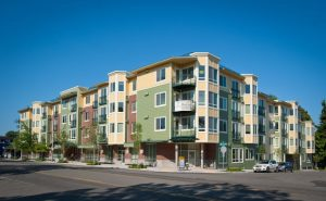 The Jasper Apartment building at 8606 35th Ave NE was completed July 2012.