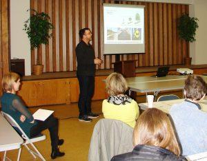 Brice Maryman at a Coffee Talk presentation