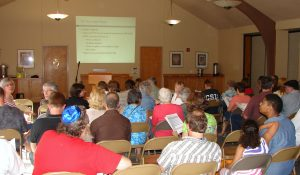 It was a packed house for discussion on commercial zoning at the meeting on June 24, 2015.