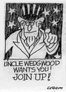 Uncle Wedgwood cartoon March 1988 by Bob Cram