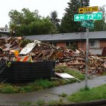 Demolition at 3628 NE 73rd Place (corner of 38th Ave NE)