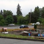 New house under construction at 7555 25th Ave NE across the street from Dahl Field.