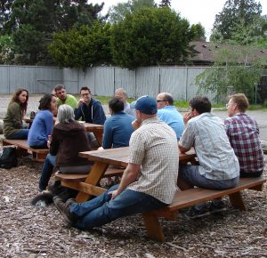 A lively group of Wedgwoodians met to plan for food trucks.