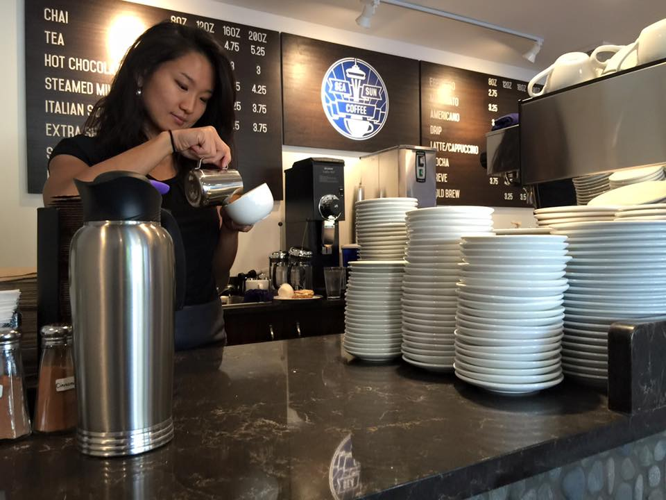 Seattle Sunshine Coffee opening day May 30 2016