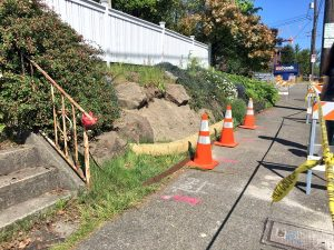 A sinkhole was repaired on the night of May 1, 2016, in front of 6211 12th Ave NE.