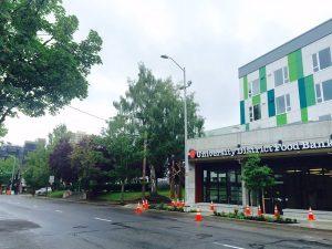 food bank building on Roosevelt Way NE