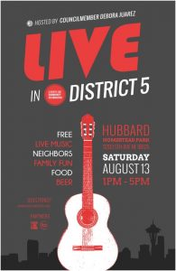 District 5 party vertical poster