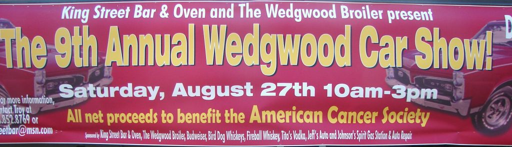 Wedgwood Broiler car show banner.2016