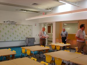 Classrooms are light-filled with natural light from exterior wall windows plus glass partitions which let in light from the hallway.