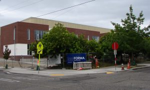 New school building as viewed from 40th Ave NE and NE 77th Street.