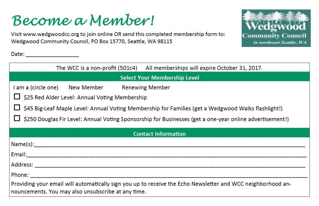 WCC membership form 2016