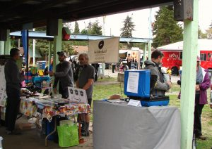 Local businesses and services such as bike repair were represented at the Wedgwood Community Picnic