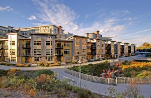 Creekside Apartments at the Thornton Place complex, Northgate.