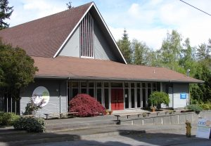 OneLife Community Church at 3524 NE 95th Street. There is parking on the east side (to the right as you face the building.)