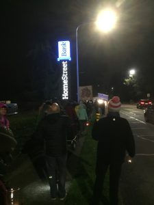 As the group made its way down 35th Ave NE, it got waves and honks of support from passing cars.